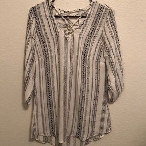 Maurice's Striped Blouse